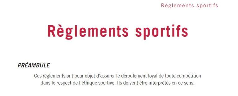 Règlements sportifs du tennis